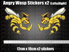 Angry Wasp Hornet Stickers Moto GP laptop helmet bike car scooter Finger, Rude,